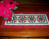 Christmas Patchwork Quilted Table Runner