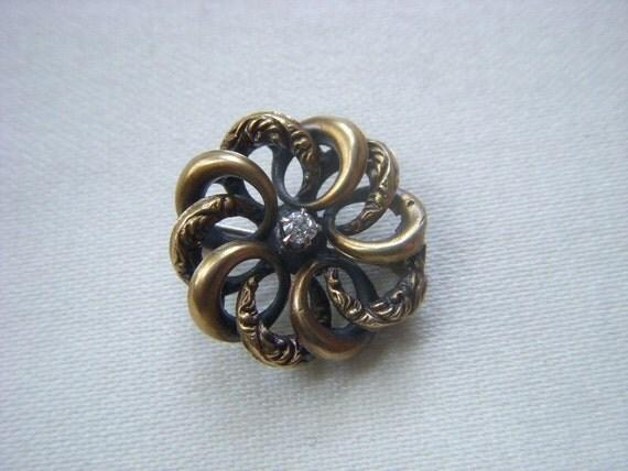 Edwardian Style Love Eternal Knot Brooch Paste Stone Hallmark G