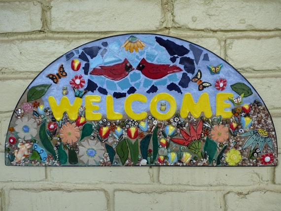 Mosaic Welcome Sign Wall Hanging By Katesutcliffemosaics. Truck Accident Statistics Mass Mail Services. Medical Malpractice Attorney Indiana. Corporate Internet Security Hepatitis C Blog. Employment Agencies Nc Prince Of Peace School