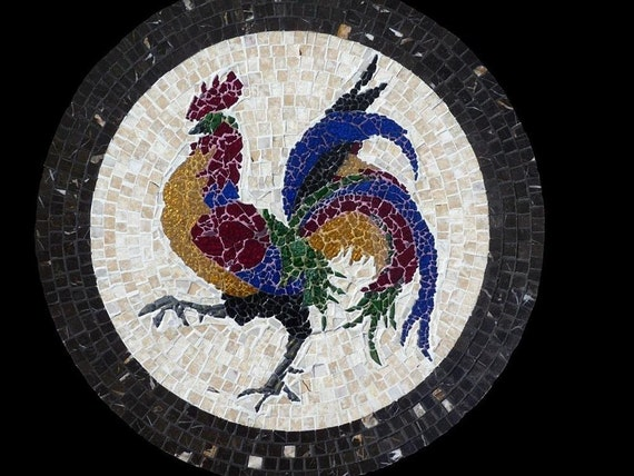 Mosaic Lazy Susan or Wall Hanging Rooster