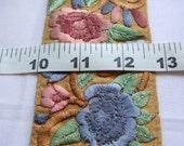 1 YARD Embroidered Tan Color Saree Ribbon