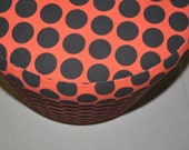 CUSTOM LISTING Red & Black Polka Dotted Ottoman- please don't purchase