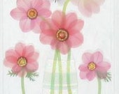 Jolee's Boutique / PINK FLOWER Stickers / Vellum