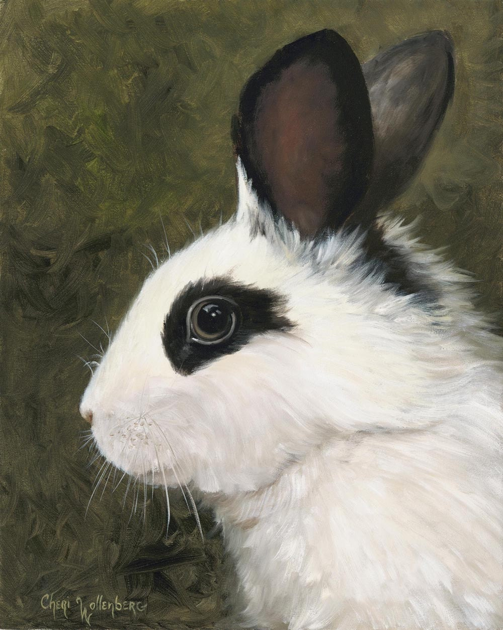 Little Rabbit 1 Canvas Giclee Of Original Oil Painting
