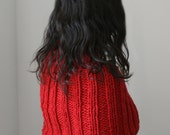The Nuzzle Capelet. Hand Knit Capelet with Eyelet Pattern, in Soft Merino Wool.