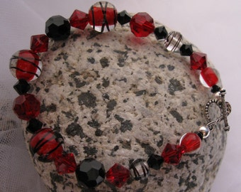 fatdog Bracelet - B1016 Red And Black