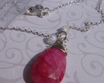 fatdog The Sweetest Things Necklace - ST106 Hot Pink Moonstone Pendant 2