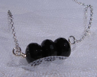 fatdog The Sweetest Things Necklace - ST112 Black Onyx Trio