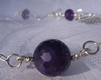fatdog The Sweetest Things Necklace - ST110 Amethyst and Sterling Silver