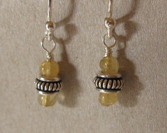 fatdog Earrings - EB508 Sterling Silver Bead and Citrine Gemstone