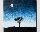 Tree Silhouette by the Moonlight 12X12
