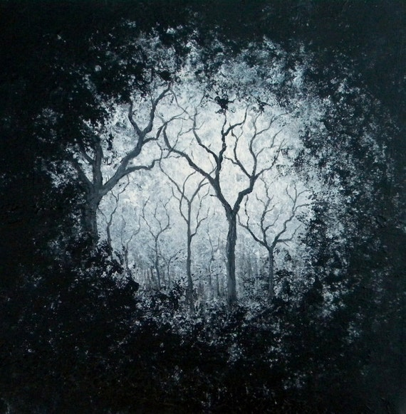 Through the Branches 12X12 painting