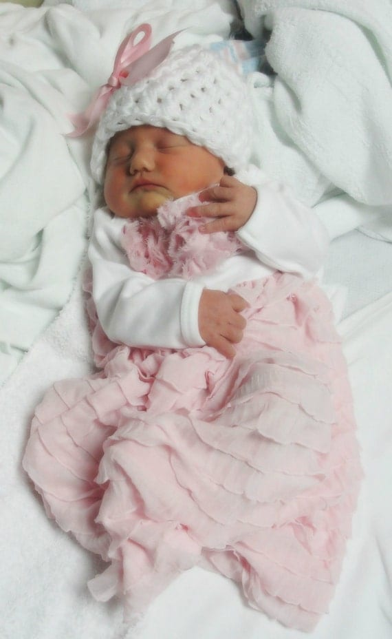 Beautiful newborn baby girl take me home outfits. Katie Rose is as sweet as can be for coming home from the hospital. Special Christening gowns that can be worn for generations to come. All made in the USA. Katie Rose Pink Newborn Take Me Home Outfit (Newborn & 6Mos) $