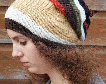 "Knitted Oversized Slouchy Beanie,  Heads 22"" - 24"""