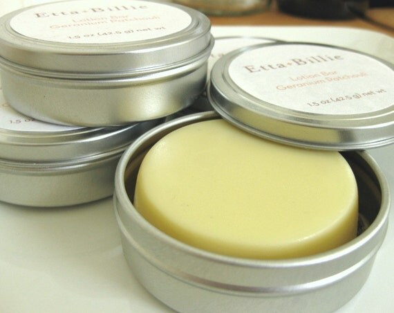 Geranium Patchouli Lotion Bar with Certified Organic Ingredients