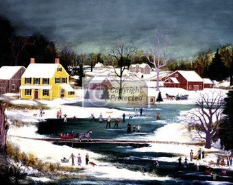 SKATING PARTY - Limited Edition Print _ by J.L. Munro