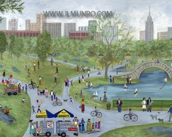 Central Park - Limited Edition Print _ by J.L. Munro