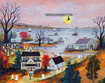 Halloween on Cape Cod - Limited Edition Print _ by J.L. Munro