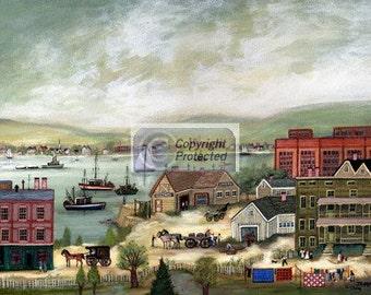 NORTH BAY HARBOR - Limited Edition Print _ by J.L. Munro