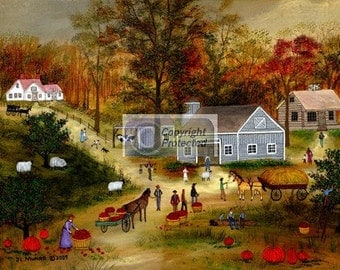 AUTUMN HARVEST - Limited Edition Print _ by J.L. Munro