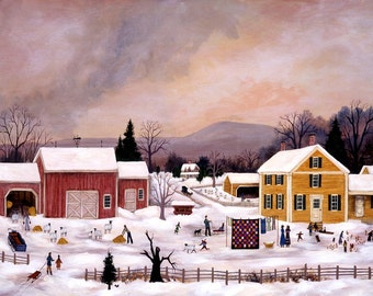 Sheep Farm in Winter - Limited Edition Print _ by J.L. Munro