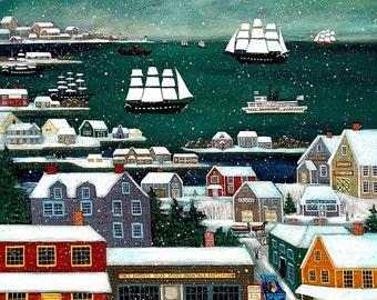 Winter in Nantucket Harbor