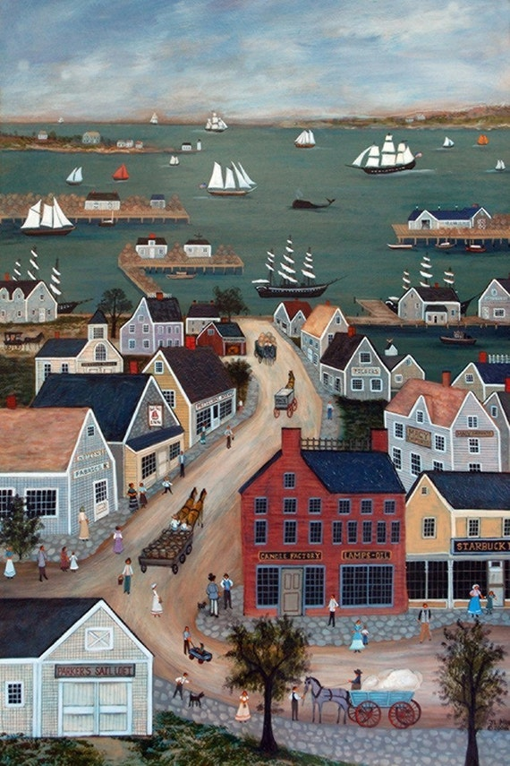 NANTUCKET HARBOR - Limited Edition Print _ by J.L. Munro