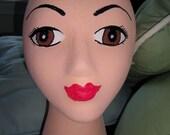 Brown Eyed Mannequin Head
