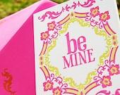 Be Mine Folded Letterpress Card