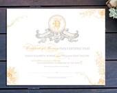 "Vintage Banner Custom Marriage Certificate - 13"" x 10"""