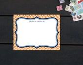 Stationery - Custom Set with Patterned Background