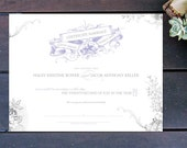 "Vintage Romance Made to Order Marriage Certificate - 13"" x 10"""