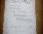 Made to Order Jewish Ketubah with Dreamlike Florals