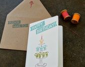 Happy Birthday Card with Cupcakes