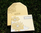 Daisy Happy Birthday Letterpress Greeting Card