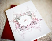 For My Love Decorative Letterpress Greeting Card