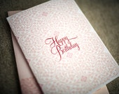 Pink Happy Birthday Pattern Greeting Card