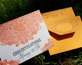 Congratulations to the Mommy to Be Letterpress Greeting Card