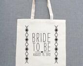 Bride To Be Custom Tote Bags (Set of 5)