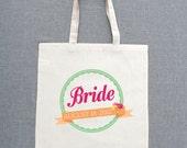 Custom Bride Lightweight Tote Bags (Set of 5)