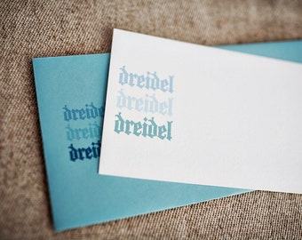 SALE - Dreidel Dreidel Dreidel Hanukkah Cards (Set of 10)