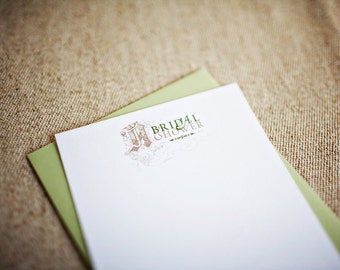 SALE - Bridal Shower Swirl Blank Invitations (Set of 10)