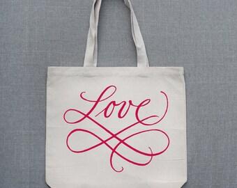 Scripted Love Large Custom Tote Bag