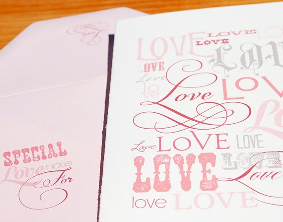 Love Note Flat Printed Greeting Card