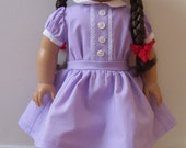 American Girl Handmade Purple Dress from Meet Molly