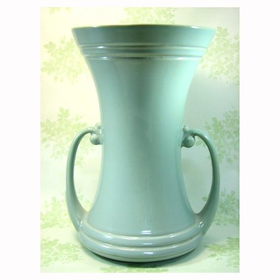 Vintage Large Abingdon Art Pottery Sage Green Vase