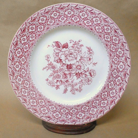 Pink Rose Harvard Plate by Empire England  Vintage