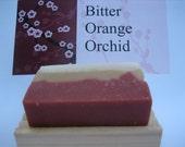 BITTER ORANGE ORCHID natural SOAP vegan olive oil moisturizing