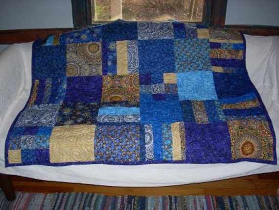 The Stars at Night Lap Quilt