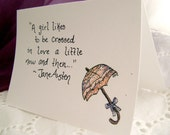 Crossed In Love Jane Austen Greeting Card -FREE SHIPPING-